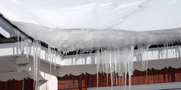 ice dam What are ice dams and what can home owners do to prevent them.